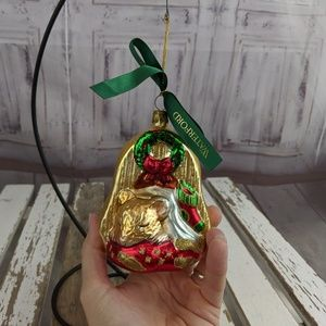 Waterford mouse wreath sleeping xmas ornament not